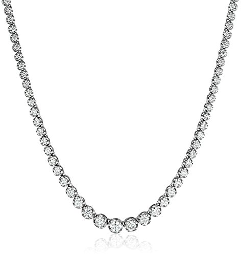 Graduate Diamond Tennis Necklace Clarity