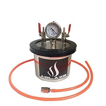 Ablaze Small Mini 1 5 Quart Resin Trap Vacuum Chamber Stainless