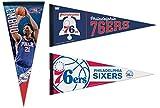 WinCraft Bundle 3 Items: NBA Philadelphia 76ers 3 Premium Pennants 12x30 inches