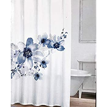 Amazon Com Caro Fabric Shower Curtain Floral Flowers