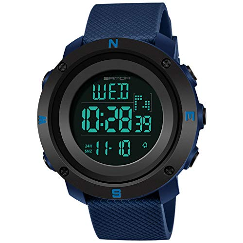 Watches for Men on Sale ! Hessimy Men's Digital Sports Wrist Watch LED Screen Large Face Electronics Military Watches Waterproof Alarm Back Light Outdoor Casual Luminous Simple Army Watch (Swiss Items)