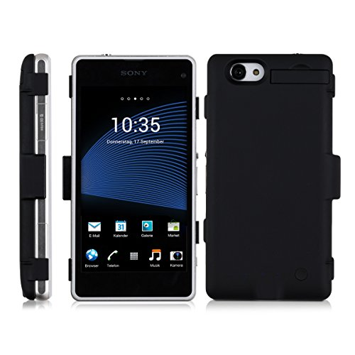 kwmobile Battery case for Sony Xperia Z1 Compact Capacity: 3200mAh output: 5V/500mA. Extend the battery life of your Sony Xperia Z1 Compact by miles!
