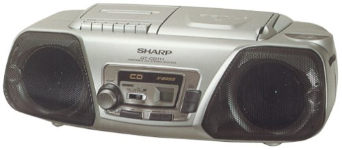 SHARP QT CD114S QTCD114 Silver Boombox