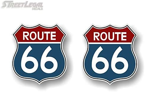 - ROUTE 666 ROUTE 66 DECAL sticker for window Laptop *USA* USA* USA*