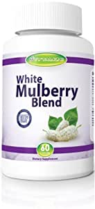 White Mulberry Leaf Extract Formula - High Blood Sugar Support and Control: Helps Lower Blood Sugar Levels Naturally, Burn Fat and Lose Weight Fast - Might Be What the Dr. Ordered - Diet Supplement Solution- With Vital Nutrients Garcinia Cambogia, Green Coffee Bean Plus African Mango - 30 Day Money Back Guarantee