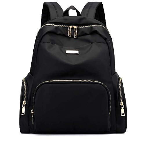 - Luckysmile Nylon Fashion Backpack for Women College Bookbag with Trolley Strap