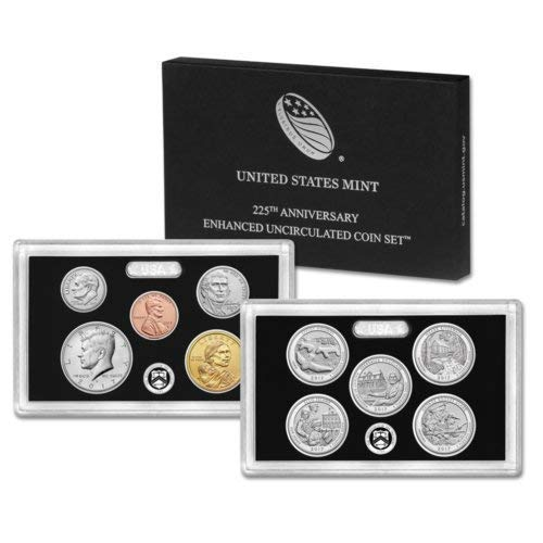 - 2017 US Mint 225th Anniversary Enhanced Uncirculated Coin Set Limited Edition Gem BU