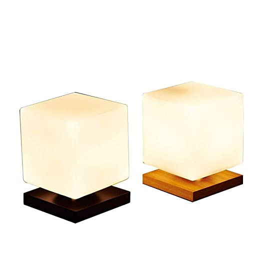 JFHGNJ lámpara de Mesa Lámpara de Mesa Moderna Pantalla de Cristal ...