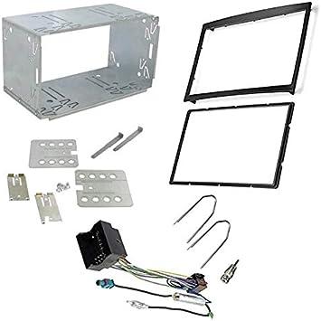 Sound-Way Kit Montage Autoradio, Marco 2 DIN Radio de Coche con Caja de Metal, Adaptador Antena, Cable Adaptador Conector ISO, Llaves Desmontaje ...