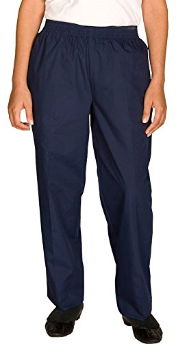 Edwards Women's Poly/Cotton Pull-On-Pant, NAVY, ()