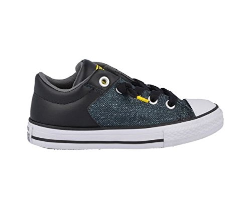 k Taylor High Street (1 Little Kid M,Black/White) (Converse Boys Shoes)