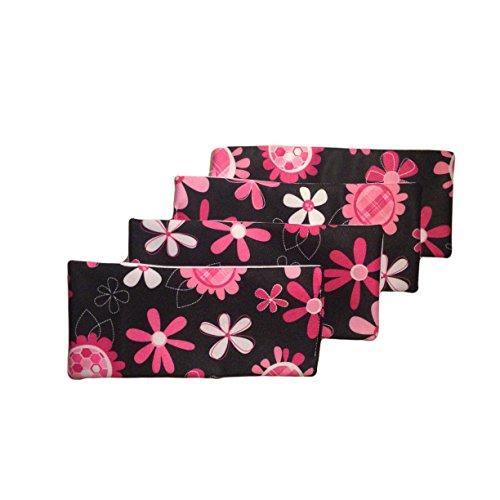 Barkertime Reusable Dog Diaper Liners - Floral Reusable Diaper Liners ? The Super Soaker - Value 4 Pack - xxl for Use with Barkerwear Washable Dog Diapers, Britches, Belly Bands, Male Wraps by Barkerwear