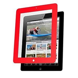 Nextware Clear Screen Shield con borde para Apple iPad 3Rojo