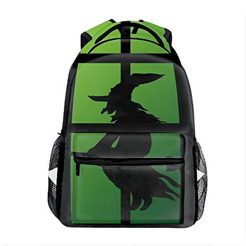 Lightweight Halloween Window Silhouette Witch Backpacks Bags Gmy bags]()