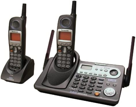 B0002VMDJ8 Panasonic KX-TG6502B 5.8 GHz DSS Expandable 2-Line Cordless Phone with Dual Handsets (Black) 41QE6S15QNL.