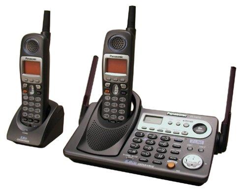 Panasonic KX-TG6502B 5.8 GHz DSS Expandable 2-Line Cordless Phone with Dual Handsets (Black)