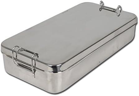 Gima S.P.A 26671 caja de acero inoxidable con asa, 30 cm x 15 cm x 6 cm: Amazon.es: Industria, empresas y ciencia