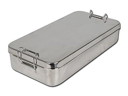 Gima SPA 26671 caja de acero inoxidable con asa, 30 cm x 15 cm x 6 cm
