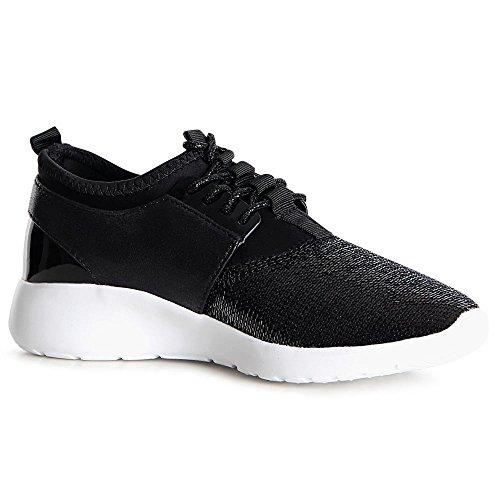 Nero Donna Topschuhe24 Sparkle Nero Sparkle Sneaker Sneaker Topschuhe24 Donna Topschuhe24 PAvwgSq7c