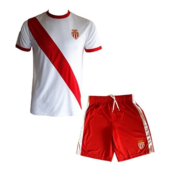 AS MONACO Maillot + Short Collection Officielle ASM FC - Football -Taille Enfant