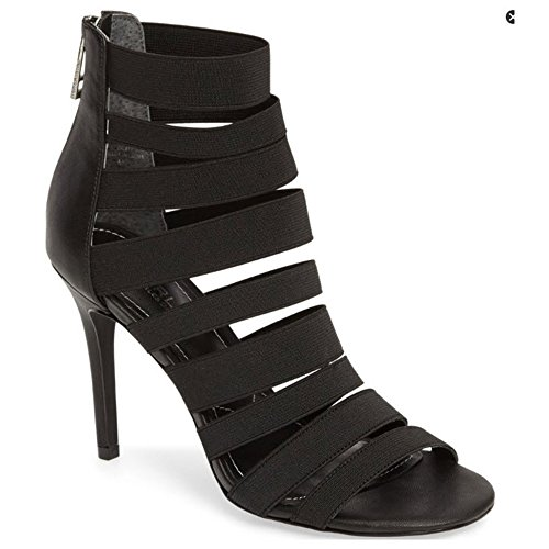 Charles by Charles David Rider Women Open Toe Synthetic, Black Elastic, Size 6.0