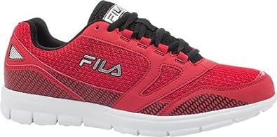 bd7db0e7e100f Fila Men's Direction Red/Black/Metallic Silver Sneaker 14 D (M): Buy ...