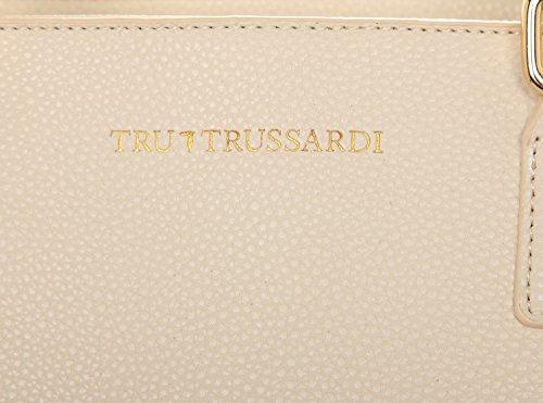 Tru Trussardi Tote BOTTALATO, Borsa tote donna Bianco Agnello