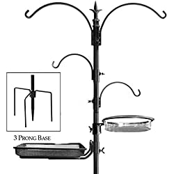 "Ashman Premium Bird Feeding Station Kit, 22"" Wide x 92"" Tall (82"" above ground height), A Multi Feeder Hanging Kit and Bird Bath For Attracting Wild Birds"