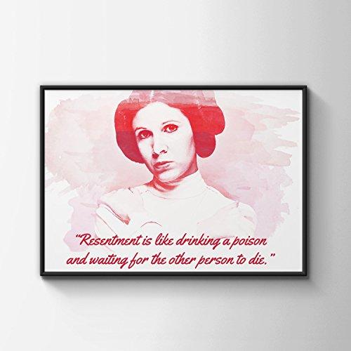 Carrie Fisher Quote Art - Princess Leia - Starwars - General Organa - Digital Art - Pop art