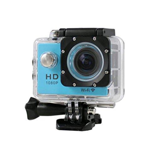 1080p H.264 30fps Full HD Waterproof Wi-Fi Sports Camera (Blue) - 3