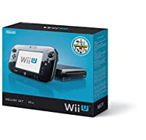 Nintendo Wii U Console Deluxe Set | 32 GB Flash Memory | SDHC Memory Card | Wireless GamePad | Compatible with Wii & Wii U disc | Stereo Audio | HDMI | Black