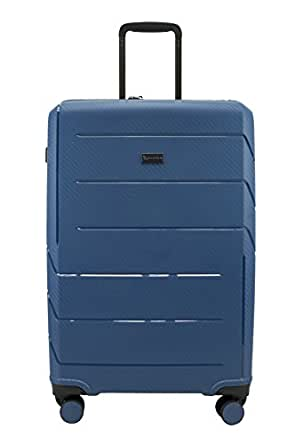 QANTAS London 68cm 4 Wheel Trolley Suitcase, (Steel Blue), (QF789-70-B)