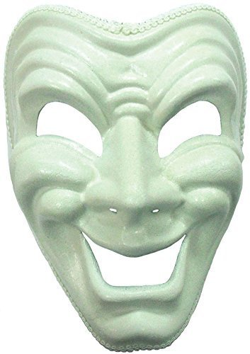 Theatrical Costumes Uk (White Happy Theatrical Mask)