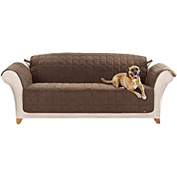 Sure Fit Quilted Pet Throw - Sofa Slipcover - Chocolate (SF37470)