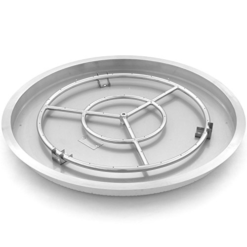 Round Drop-in Pan With 24-inch Natural Gas Ring Burner (Flame Burner Pan)