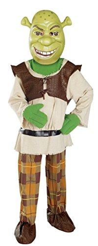Shrek Fancy Dress Costume (Boys Shrek Deluxe Kids Child Fancy Dress Party Halloween Costume, S (4-6))