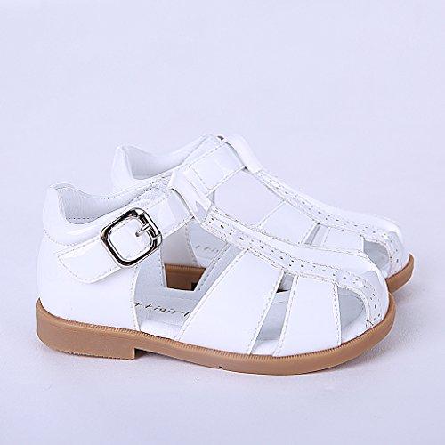Pettigirl Niños Zapatos Verano Sandalias Antideslizante Cuna Zapatos Unisex Zapatos Blanco