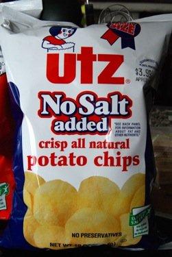 UTZ No Salt Added Crispy Natural Potato Chips 2.875 Ounces (Pack of 12)