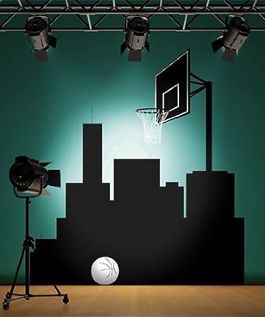 Wall Decal Vinyl Sticker Urban BasketBall Court 8ft Tall #Cmunn101 Part 93