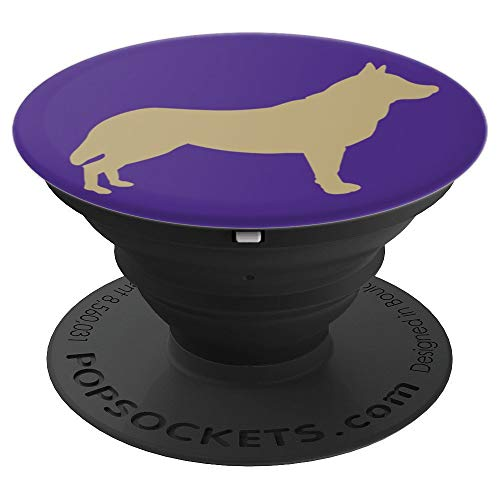 (Husky Silhouette State Washington Purple Gold University Fun - PopSockets Grip and Stand for Phones and Tablets)