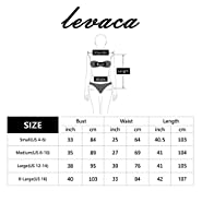 Levaca Women's 3/4 Sleeve Pleated Loose Swing Casual Midi Dress With Pockets
