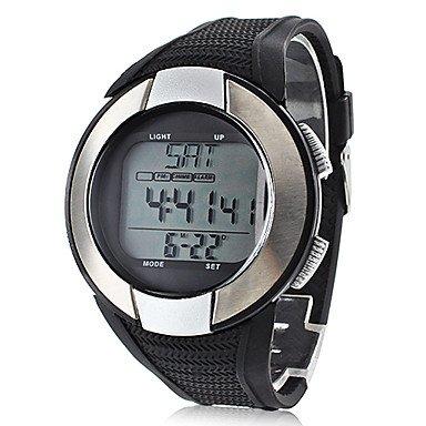 fenkoo Unisex Sport Reloj digital LCD/Pulsómetro/Calendario/Cronógrafo/Resistente al agua/alarma correa de silicona negro, negro: Amazon.es: Deportes y aire ...