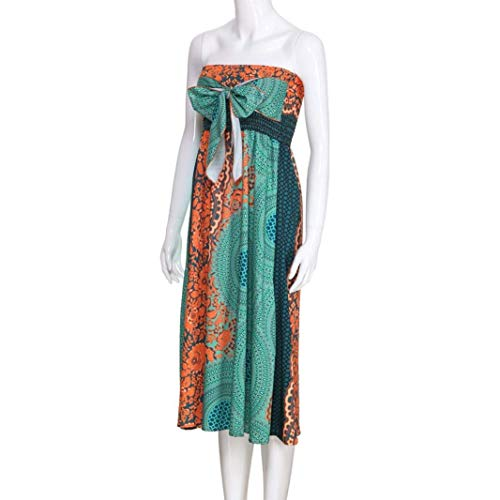 Taille Vert Halter Jupe Zhrui Asymétrique couleur Élastique Boho Maxi Gypsy Grand Vert Floral zOzqP0w