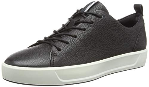 ECCO Men's Soft 8 Tie Fashion Sneaker,Black / White,45 M EU (11-11.5 US) - Sneaker Sole Cup