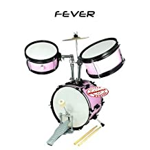 Fever DS-03-PK Pink Pieces Kids Drum Set with Sticks and Cymbal