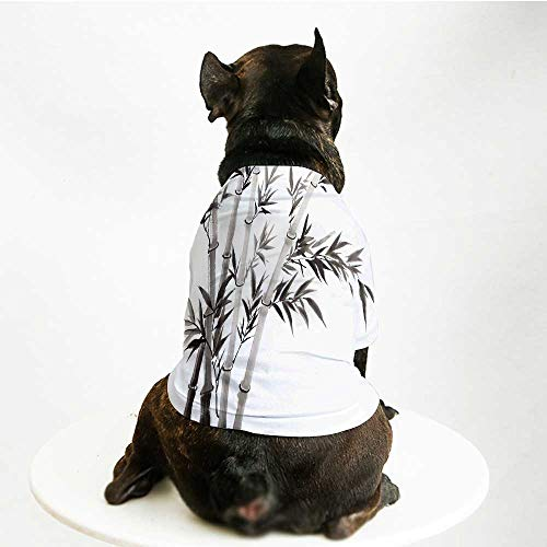 YOLIYANA Bamboo House Decor Stylish Pet Suit,Traditional Bamboo Leaves Meaning Wisdom Growth Renewal Unleash Your Power Artprint for Small Medium Big Dogs,S ()