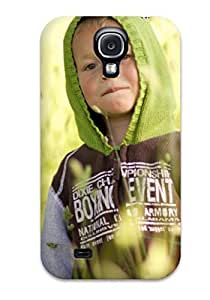 ClaudiaDay Scratch-free Phone Case For Galaxy S4- Retail Packaging - Green Clothes Kid In The Grass
