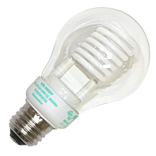Litetronics 49980 - MB-500DP 5W A19 CL PW Cold Cathode Screw Base Compact Fluorescent Light Bulb