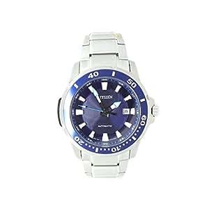 Citizen NJ0010-55L - Reloj para hombres, correa de acero inoxidable color plateado