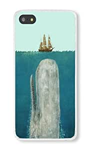 Iphone 5S Case Moby Dick Whale Coming Up To Sail Boat Cell Phone Case For Iphone 5S PC Transparent Phone Hard Case